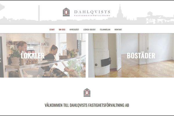 Hemsida Dahlqvists fastighetsförvalning AB