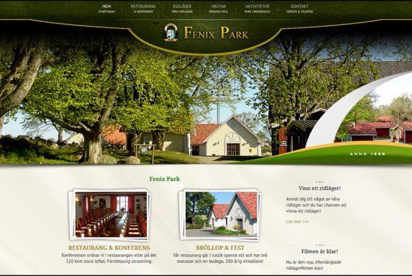 Hemsida Fenix Park
