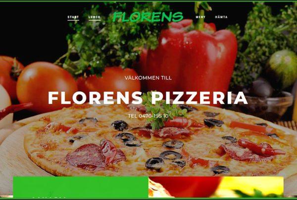 Hemsida Florens Pizzeria