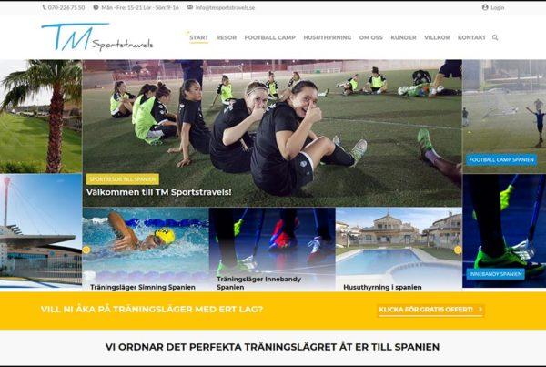 Hemsida TM Sportstravels